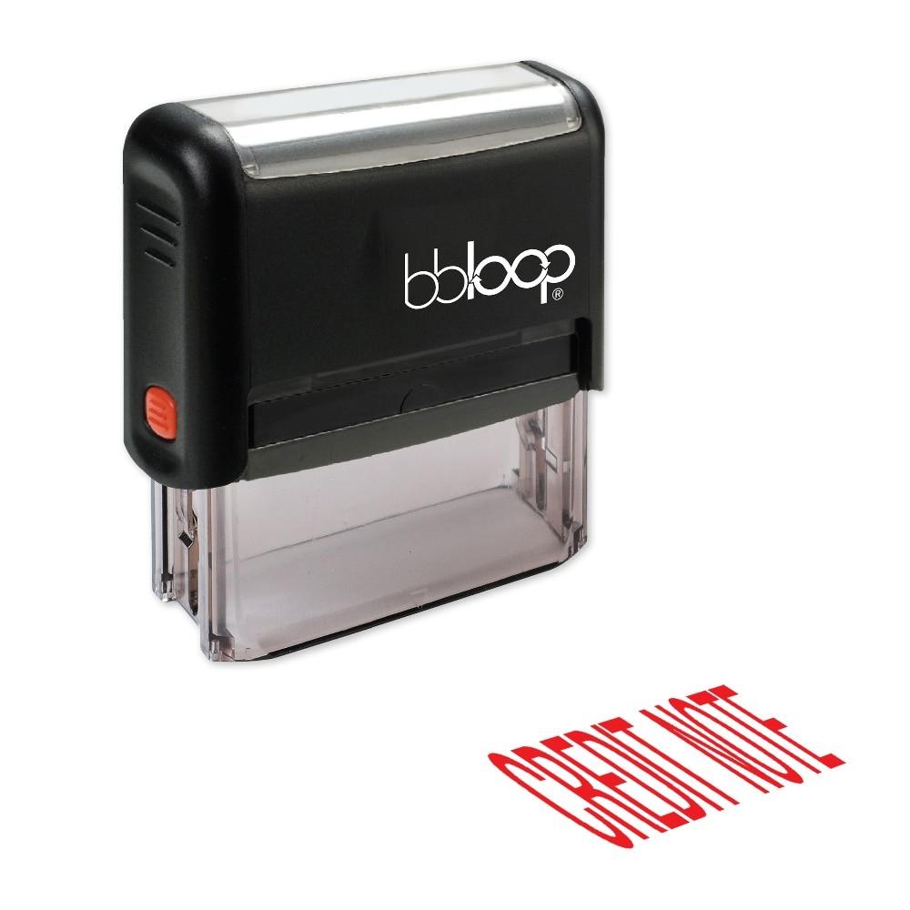 BBloop CREDIT NOTE Self-Inking Stamp, Rectangular, Laser Engraved, RED/BLUE/BLACK 10 digit 9 wheels gray light blue rubber band self inking numbering stamp
