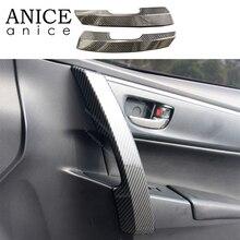 Отделка крышки ручки боковой двери из углеродного волокна для Тойота торолла аурис- ABS
