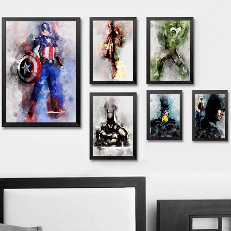 Comics Marvel Avengers Super Heroes Movie Poster Art Canvas Print ...
