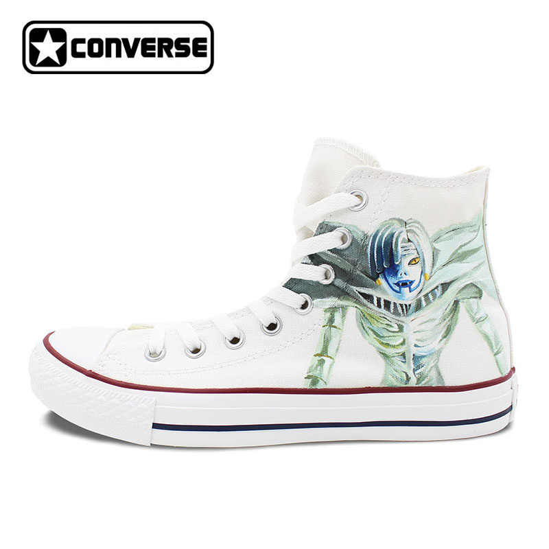 Death Note Ryuuku Rem Anime Shoes Men Women Canvas Sneakers Hand Painted Converse All Star Brand Skateboarding Shoe