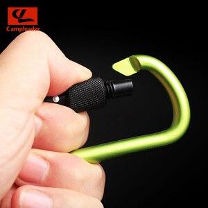 Image 4 - 8cm אלומיניום סגסוגת אביב Carabiner D טבעת מפתח שרשרת קליפ רב צבע קמפינג Keyring הצמד וו חיצוני נסיעות ערכת Quickdraws