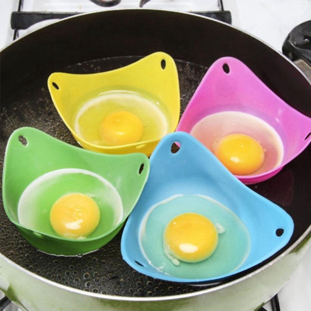 4Pcs/set Poach <font><b>Egg</b></font> Cookware Mould Handy Pods Tool Kitchen <font><b>Cup</b></font> Cook Poacher Silicone Poached Baking