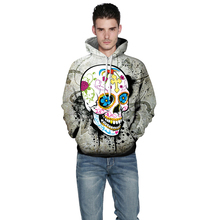 Brand New Fashion Men/Women 3D Punk Sweatshirts Print Paisley Skull Hoodies Autumn Winter Warm Hooded Pullovers Jumper Tops недорго, оригинальная цена