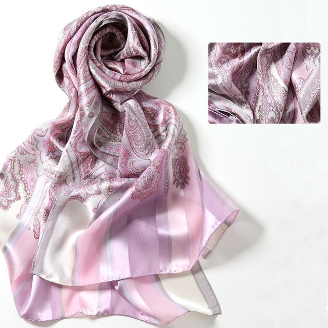 43% От 180*55 см 3 цвета Кешью печатных женщин шелковицы большой шарф шелковый шарф большой шарф мода мыс