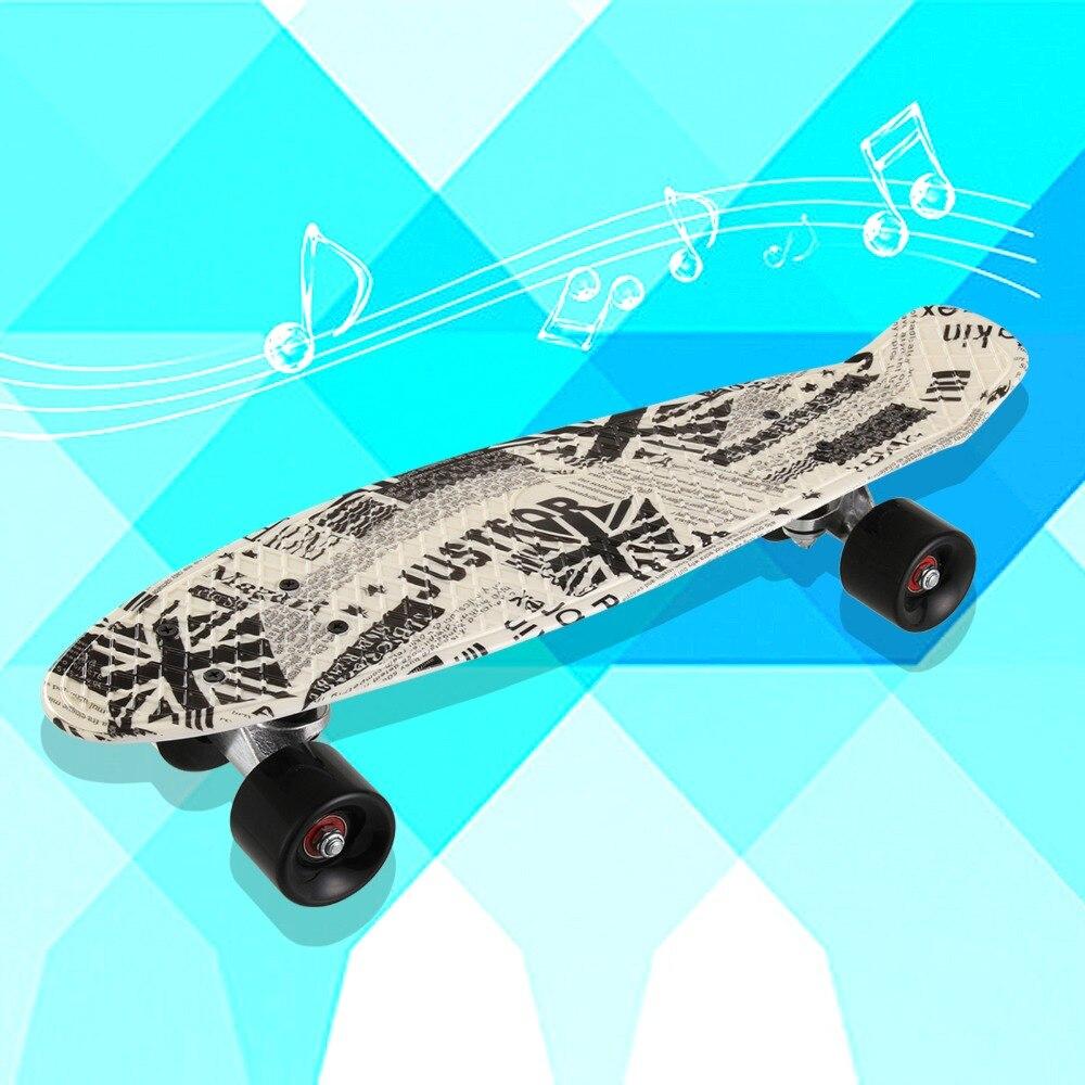 22*06 pouces impression rue 22 pouces longue planche à roulettes complète rétro Graffiti Style Skateboard Cruiser longue planche à roulettes