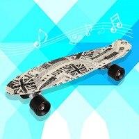 22*06inch Printing Street 22 inch Long Skate Board Complete Retro Graffiti Style Skateboard Cruiser Long Board Skateboards