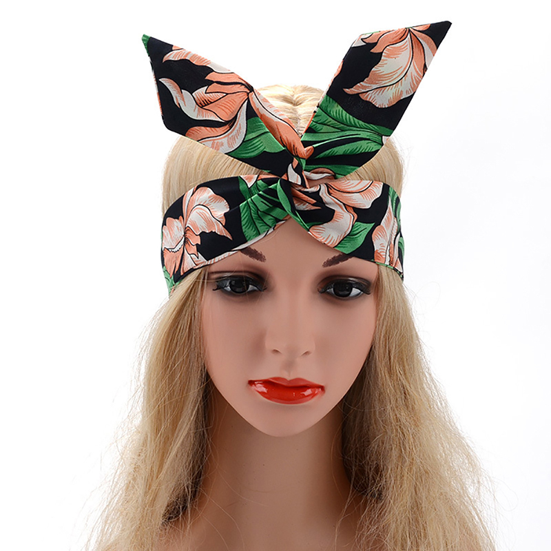 Women Girls Summer vintage Hair Bands Hair Accessories Headwrap Print Headbands Bandage Bandanas HairBands