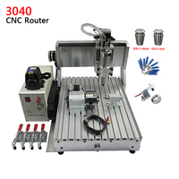 Mini 3D cnc router 4 axis CNC milling machine 3040 Z VFD 800W assembled tested well mold marking machine