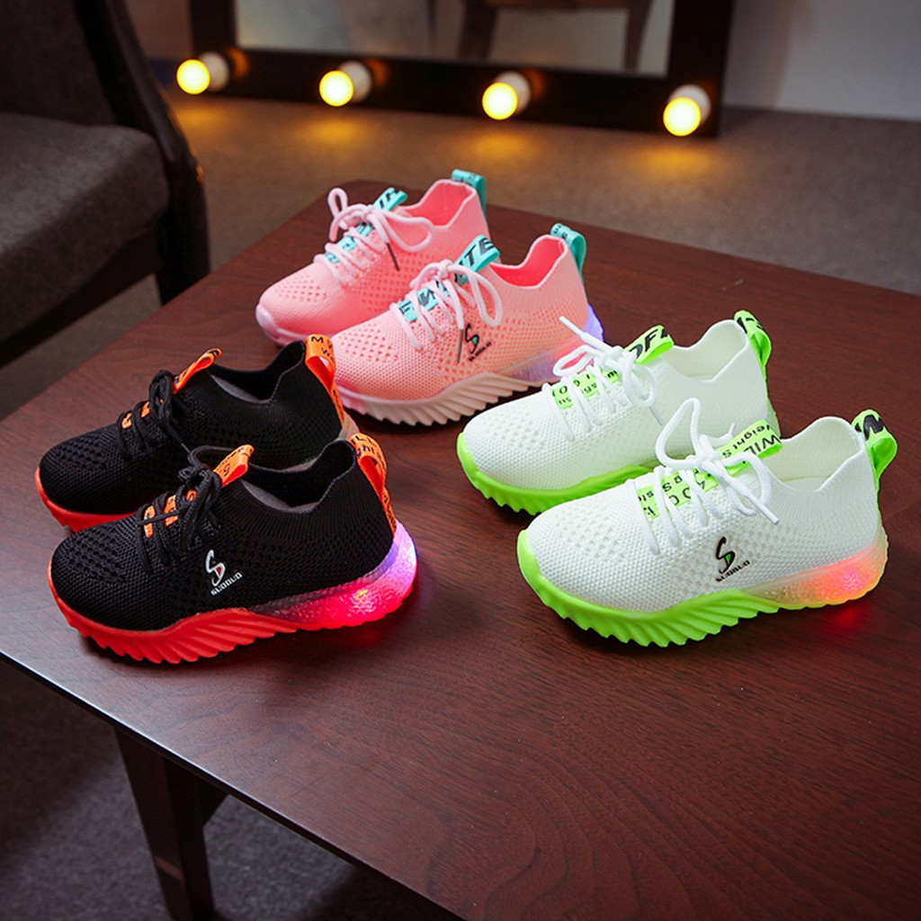 LED Breathable Knitted Sneakers 3