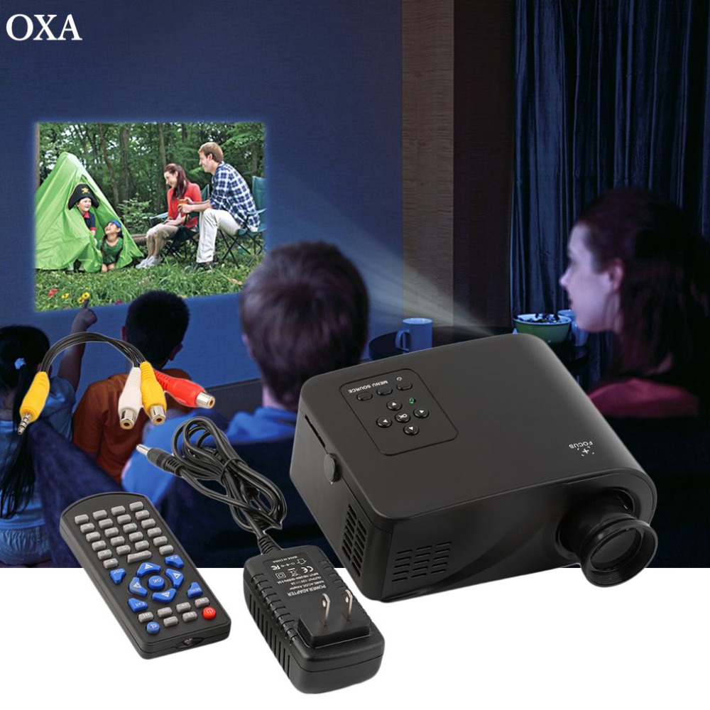 OXA High Quality Mini 1080P HD Multimedia Home LED Projector Cinema Theater AV TV VGA HDMI US Plug In stock!!!