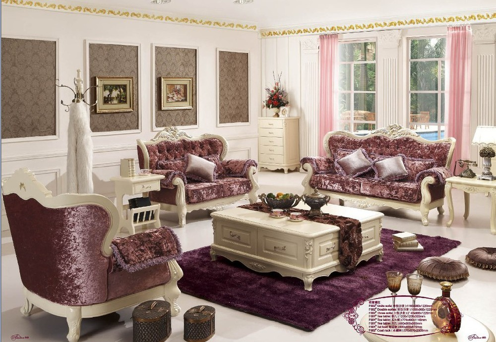 breathtaking french style living room furniture | New listing romantic French luxury European style carved ...