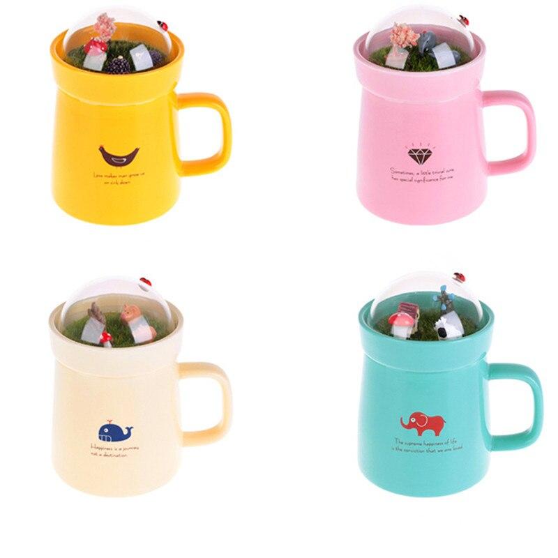 Cartoon Animal Micro Landscape Caneca Milk and Coffee Mug 400mlHigh-capacity Office Ceramic Cups Beauty Creative Gifts