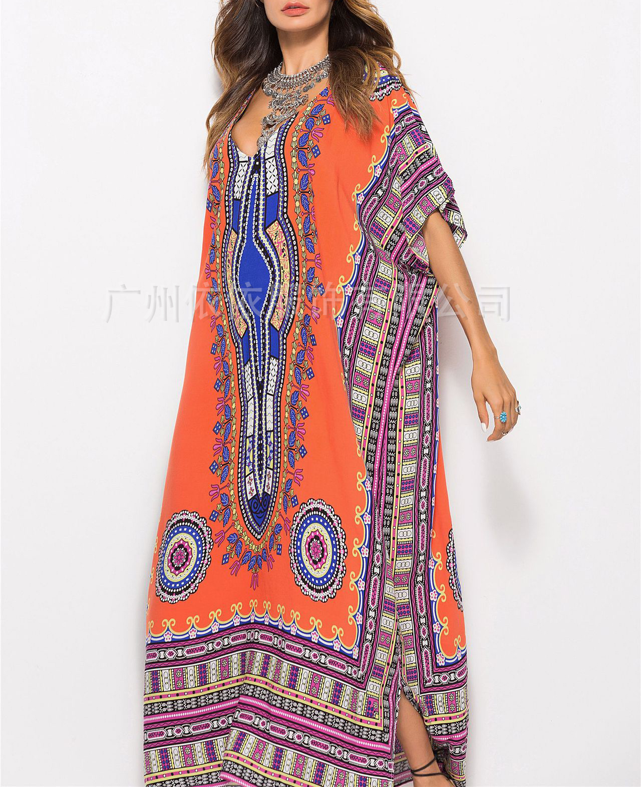 Spring and summer new style Printed casual fashion dress European and American explosions beach dress holiday dress in Dresses from Women 39 s Clothing