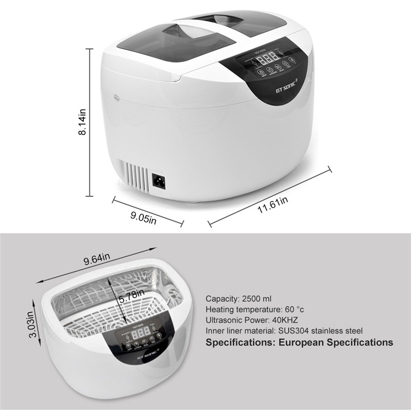 2.5L Digital Ultrasonic Cleaner LED 5-speed Timing Adjustable Ultrasound Wave Washing Bath Cleaning Machine For Jewelry Watches (2)