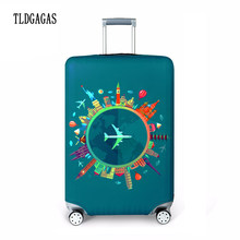 TLDGAGAS 3D Digital Stretch Fabric Luggage Protective Cover Suit 18-32 Inch Trolley Suitcase Case Covers Travel Accessories(China)
