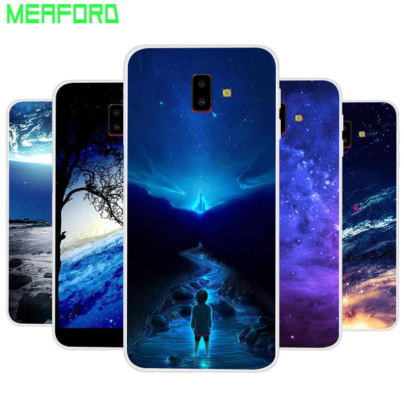 new style a1bef 2b424 Silicone Case For Samsung J6 Plus J6+ Soft Art Print Back Cover For Samsung  Galaxy J6Plus J610 J6 Plus Clear bumper Phone Case