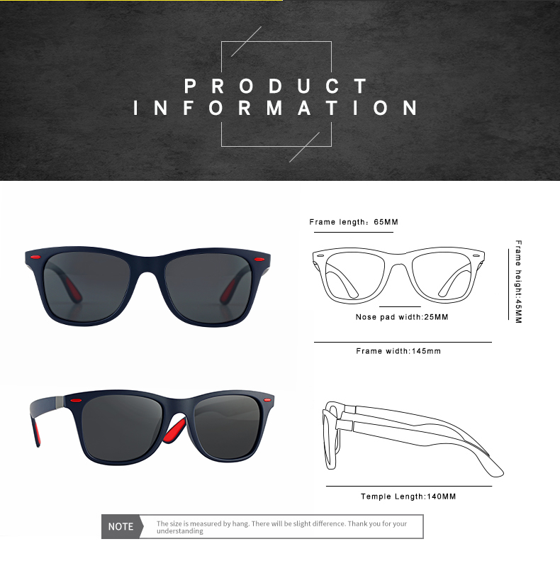 ASUOP 2019 new square polarized men`s sunglasses UV400 fashion ladies glasses classic brand designer sports driving sunglasses (5)