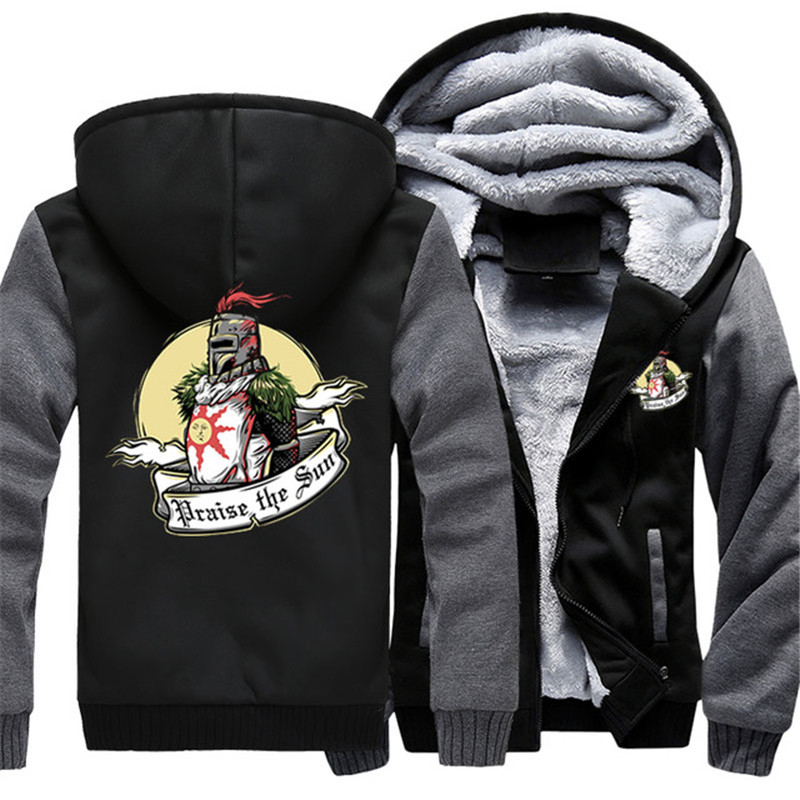Dropshiping Autumn Winter Dark Souls Jacket Baseball Costumes Anime drake black Halloween Casual Hoodie Zipper Sweatshirt Tops