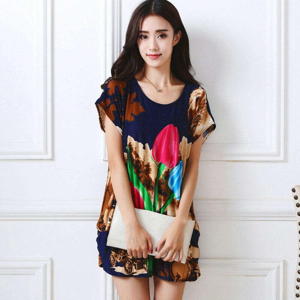 Γυναικεία Loose T-Shirt Φόρεμα Καλοκαιρινό - Γυναικείος ρουχισμός - Φωτογραφία 2