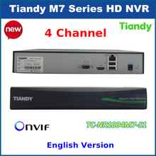 2016 Original TIandy 4CH NVR TC-NR1004M7-S1 1080P Support Onvif p2p and 1pc of 4T Hard Disk Network video recorder