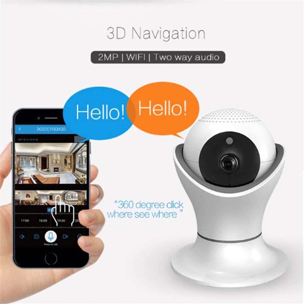 New HS Baby Camera HD 1080P Webcam WIFI Wireless Camera Home Security Baby Monitor Infrared Function Voice Intercom