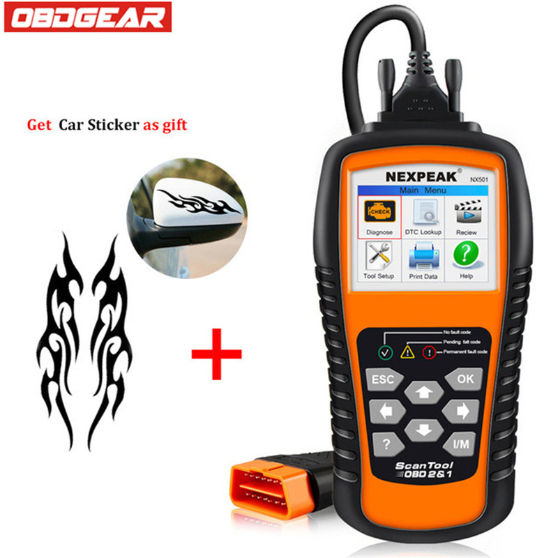 2018 Best OBD2 Scanner NEXPEAK NX501 Supports Multi-languages ODB 2 Auto Diagnostic Scanner In Russian With Free 3D Sticker 2017 09 for bmw icom a2 hdd 500gb newest software with expert mode ista d 4 06 ista p 3 62 multi languages windows7 64bit