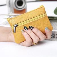 Натуральная свиная кожа кошелек для монет маленький женский кожаный бумажник винтажный дизайн Индивидуальный кошелек