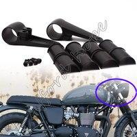 Black Motorcycle Aluminum Alloy Headlight Head Lamp Mount Bracket Fork Ears Universal Fit 35/39/41mm For Harley Sportster Bobber
