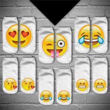 Слова смешные emoji носок тапочки лодка унисекс печати повседневная носки мужчин