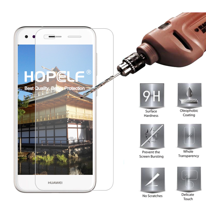HOPELF Tempered Glass for Huawei P9 Lite Mini Screen Protector 9H 2.5D Phone Film Glass for Huawei Y6 Pro 2017 Nova Lite 2017