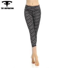 High Quality Nylon Women's Yoga 3/4 Pants Fitness Running Tights Elasticity Training Sports Jogging Leggings