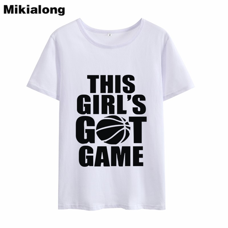 Mikialong 2018 THIS GIRLS GOT GAME T-shirt Women Cotton T Shirt Femme Kawaii Tumblr O-ne ...