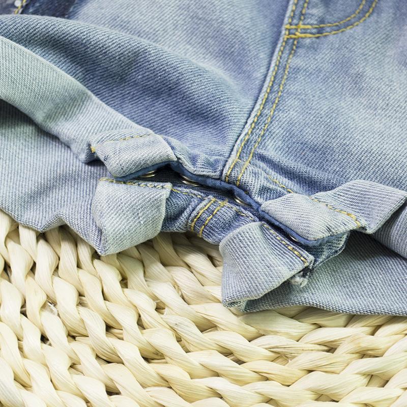 5691498031ad HSID1701007--9Infant Denim Jumpsuit Toddler Boy Girl Suspender Jeans Shorts  Kid Rompers Bodysuit Pocket Straps