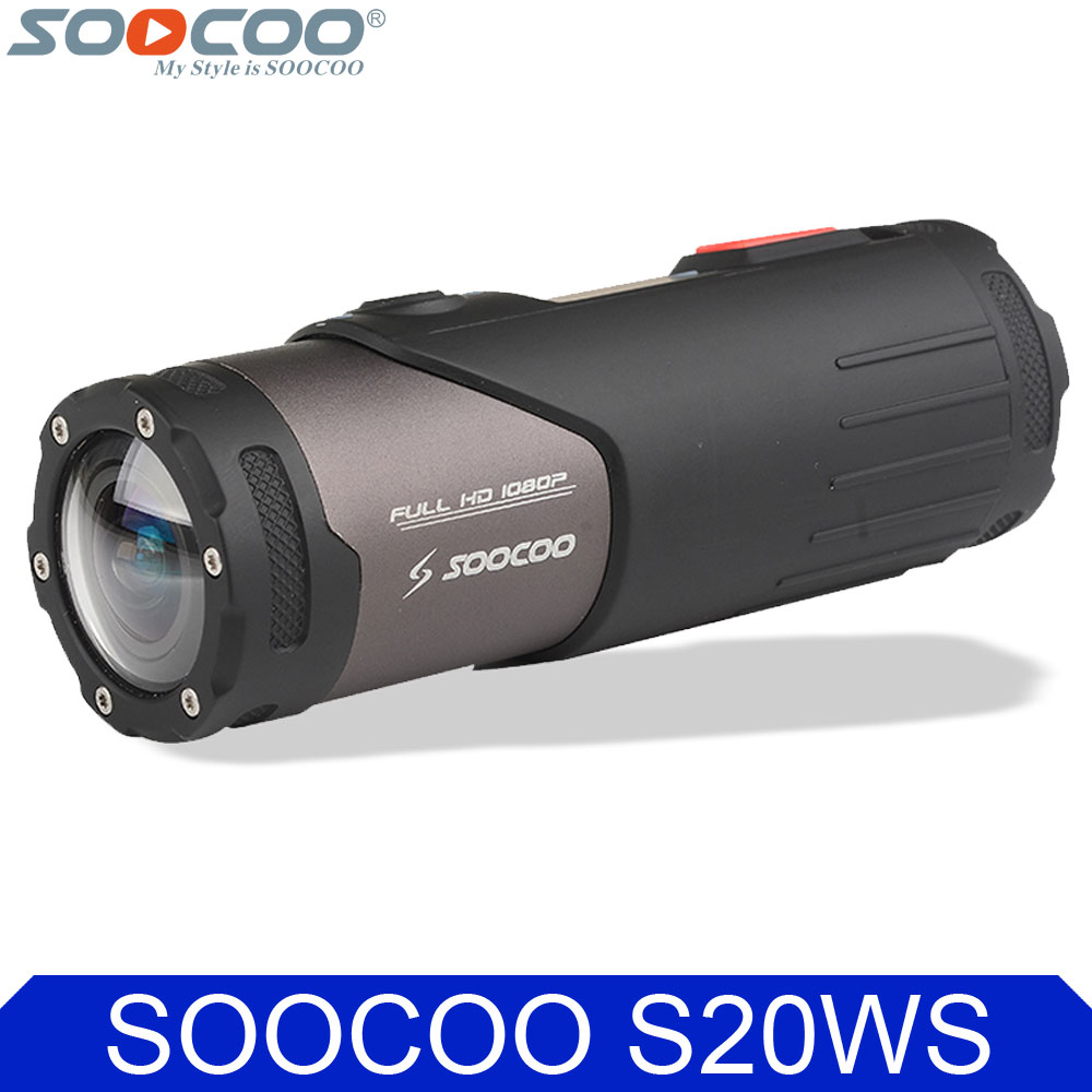 Original SOOCOO S20WS Wifi Sports Action Video Camera Waterproof 10M 1080P Full HD Bicycle Cycling Helmet Mini Outdoor Sport DV soocoo c30 sports action camera wifi 4k gyro 2 0 lcd ntk96660 30m waterproof adjustable viewing angles