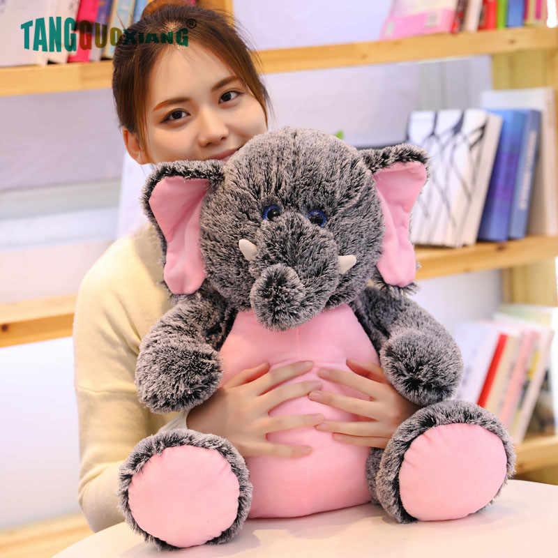 50 Cm Gajah Lucu Mainan Mewah Monyet Lembut Boneka Boneka untuk Anak-anak Gadis Bayi Teman Bermain Jumbo Indah Ulang Tahun Natal hadiah