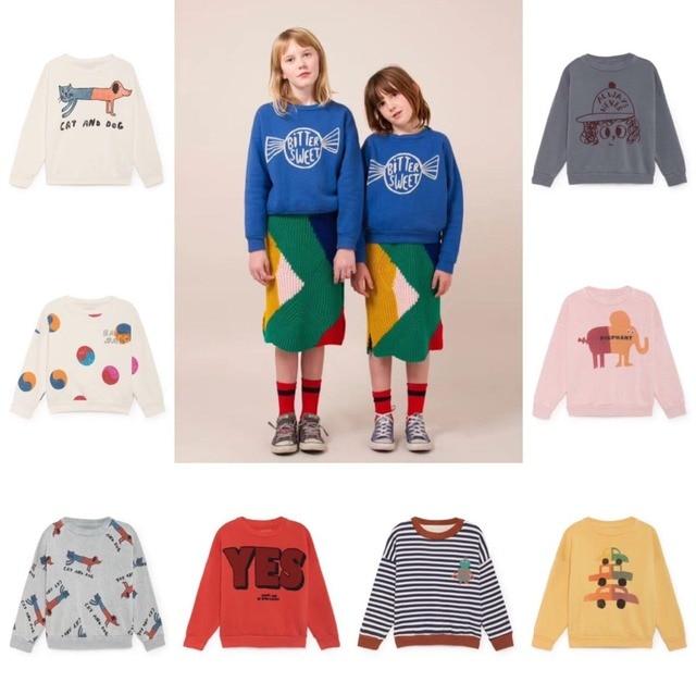 04d5c3523e68 € 8.52  2018 nuevo Bobo Choses niños sudaderas niños ropa manga larga Nap  camisetas otoño invierno Bebé niñas Tops camisetas caliente venta niños en  ...
