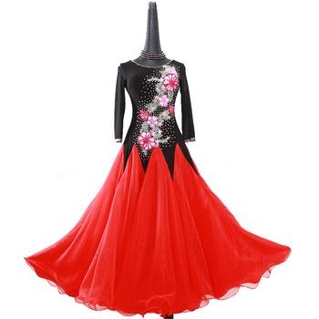 Vestido social para mujer, vestidos de competición de baile de salón, vestido de baile de vals con flecos, disfraces luminosos, vestido de baile estándar foxtrot