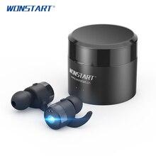 WONSTART Беспроводной наушники с зарядным футляром СПЦ наушники вкладыши с микрофоном для iphone xiaomi W302RD спортивные наушники bluetooth