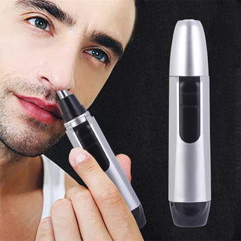 Portable Electric Nose Hair Trimmer Nose Clipper Battery Powered Razor Ear Hair Removal Face Care Shaving Razor for Men dighealth new electric nose hair trimmer safe face care razor for men washed nose ear trimmer hair removal machine