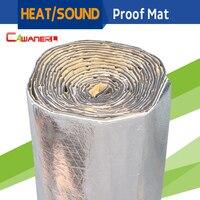 Barato Protector Térmico para el calor del coche Cawanerl, 1 rollo de 10 m2, 1000CM x 100CM, protector de aislamiento a prueba de sonido, amortiguador de lámina de aluminio