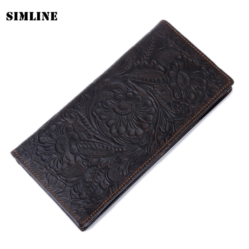 Vintage 100% Genuine Leather Cowhide Long Bifold Men Mens Wallet Wallets Purse Card Holder With Zipper Coin Pocket Male Carteira high quality men genuine leather organizer wallet vintage cowhide clasp card holder coin purse vintage carteira masculina 1011