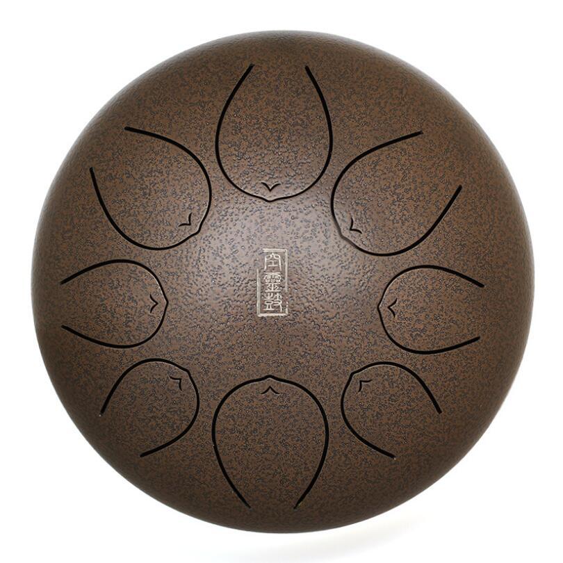 8 pouces accrocher tambour alliage tambour ton acier langue tambour enfants illumination adulte méditation instrument de musique HANDPAN tambour