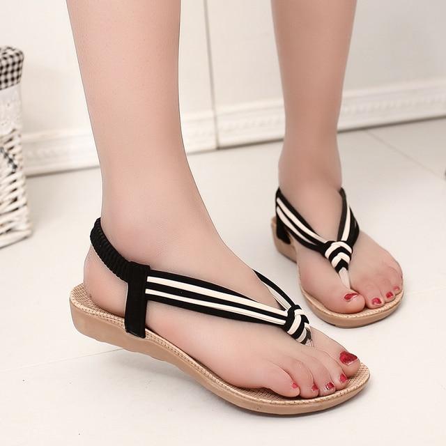 50cebd5b3e02 Casual Summer Flip Flops 2016 Footwear Fashion Simple Vogue Ladies Flat  With Sandals 2016 Pretty Girl Weave Beach Shoes