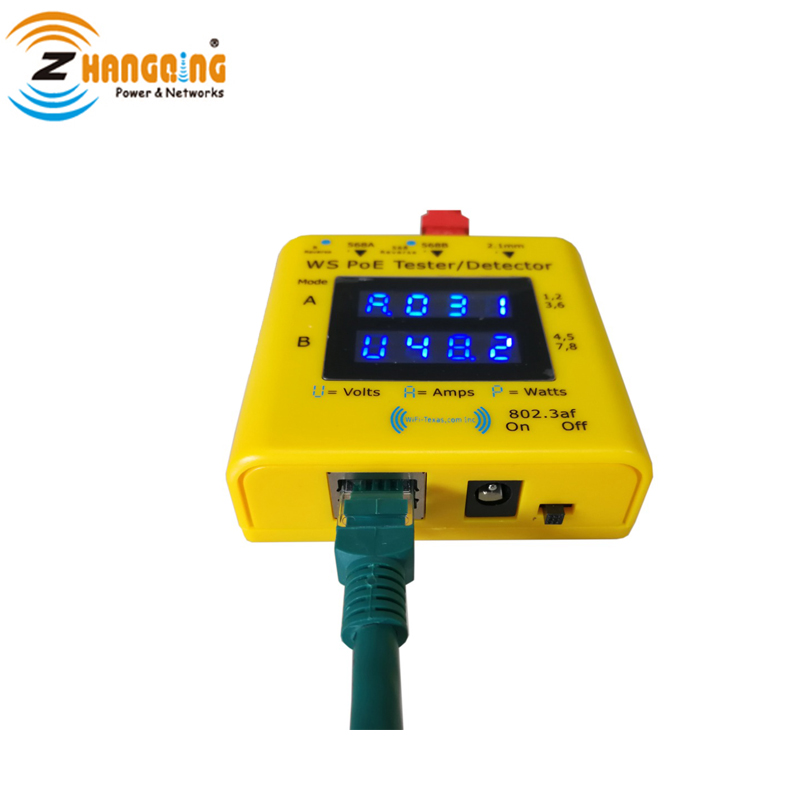 PoE Tester and Detector Bundle Inline PoE Voltage and Current Watts Tester + Pocket-Sized PoE Detector For PoE Devices