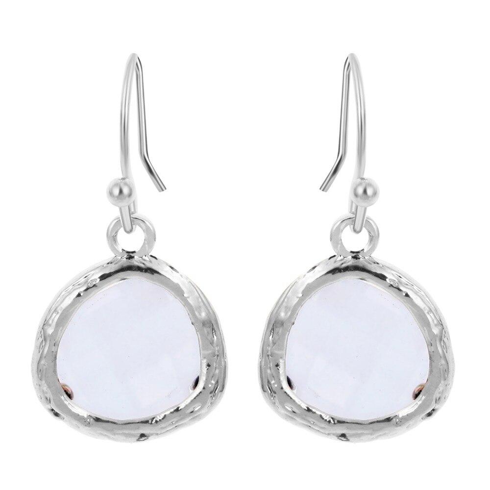 QIAMNI 10pcs/lot Beautiful White Framed Glass Kidney Wire Drop ...