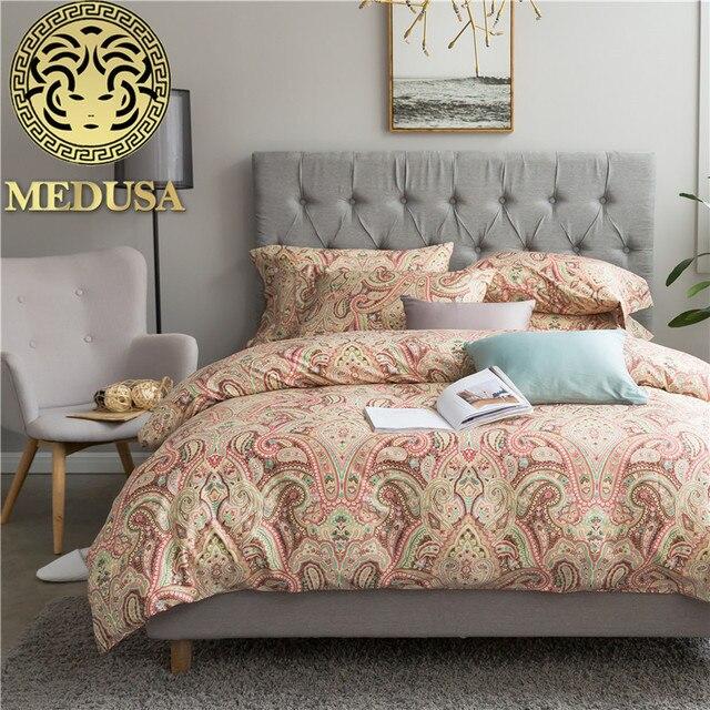 Medusa Egyptian Cotton Sateen Bohemian Bedding Set King Queen Size