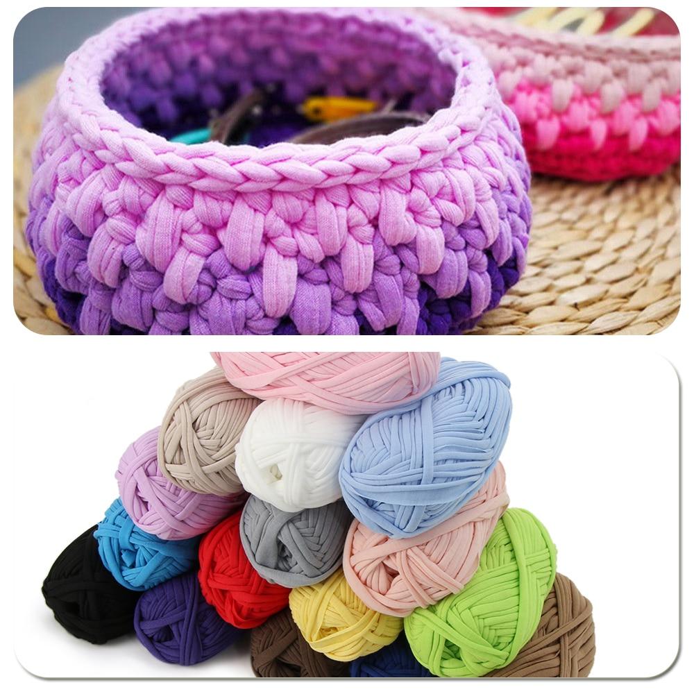 100g Home Colourful DIY Crochet Cloth Carpets Yarn Cotton Wool ... for Diy Carpet Yarn  5lp5wja