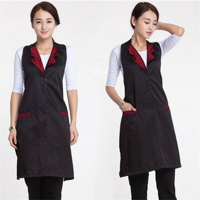 Schoonheidssalon Schoonheidsspecialiste Werkkleding Schort Koreaanse Versie Fashion Nail Serveerster Mouwloze Rok Vrouwelijke Supermarkt Schort-alx
