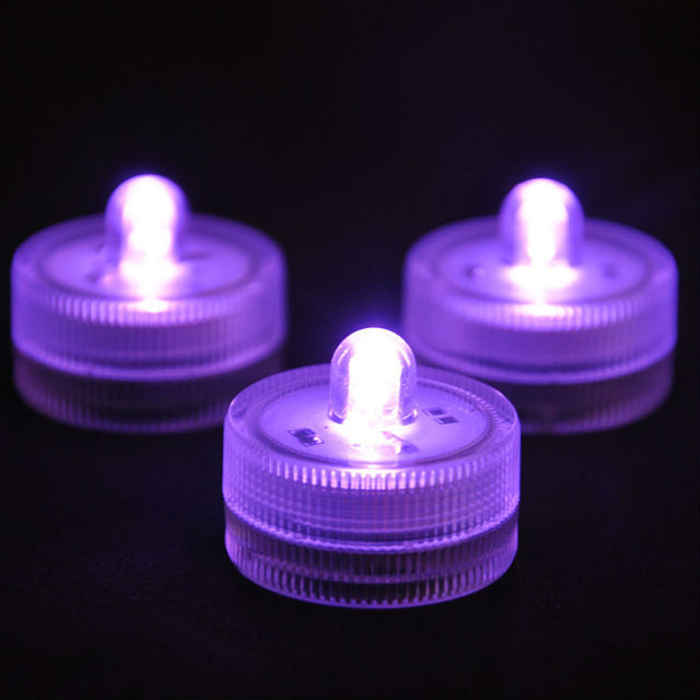 24pcslot Super Bright Submersible LED Battery Operated Tea Light
