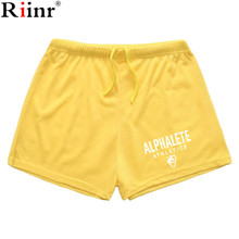 Riinr Fashion New Arrival Mens Shorts High Quality Summer Elastic Quick Dry Shorts Brand Men's Gyms Baggy Shorts Free Shiping